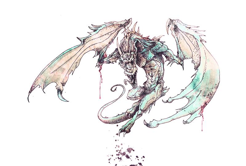 black wolf drawing
